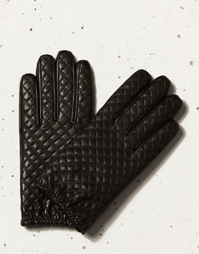[Massimo Dutti]QUILTED LEATHER GLOVES